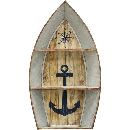 StyleCraft Nautical Boat Metal Wall Shelf