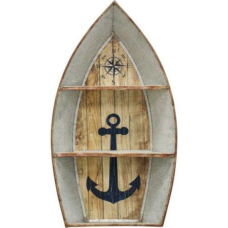 StyleCraft Nautical Boat Metal Wall Shelf