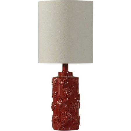StyleCraft Hand Carved Seashell Table Lamp