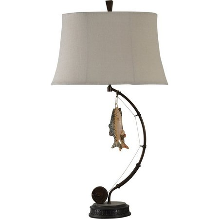 StyleCraft Gone Fishing Novelty Table Lamp