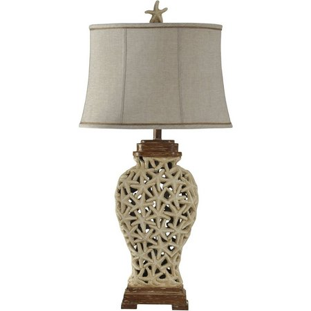 StyleCraft Open Weave Starfish Table Lamp
