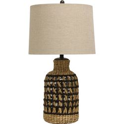StyleCraft San Marino Natural Woven Table Lamp