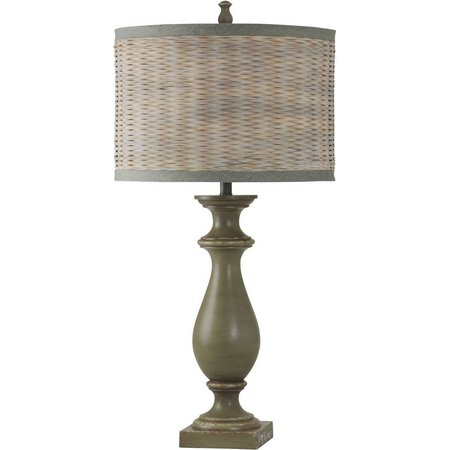 StyleCraft Coastal Inspired Green Table Lamp