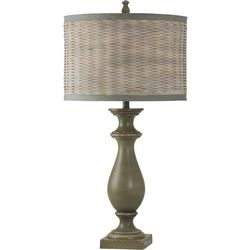 StyleCraft Coastal Inspired Green Table Lamp