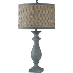 StyleCraft Coastal Inspired Blue Table Lamp