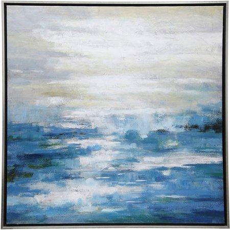 StyleCraft Framed Evening Over Sea Canvas Wall Art