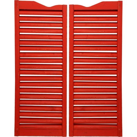 StyleCraft 2-pc. Red Wood Shutters Wall Decor