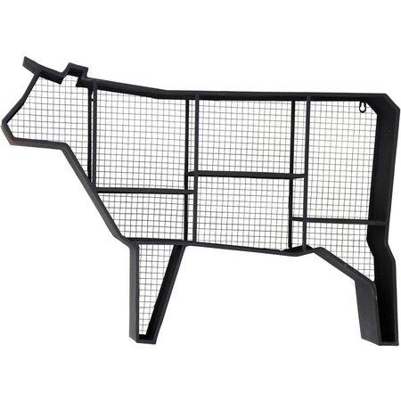 StyleCraft Metal & Mesh Cow Wall Shelf