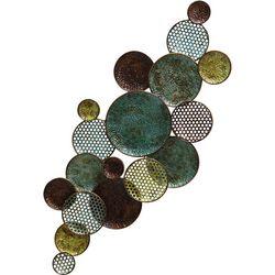 StyleCraft Green & Gold Circles Metal Wall Art