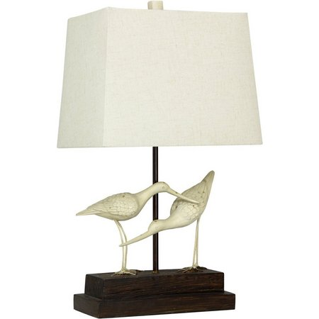 StyleCraft Sandpipers On Sand Table Lamp