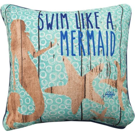 Manual Woodworkers Swim Like A Mermaid Pillow