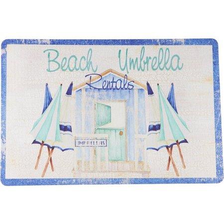 Emerald Beach Umbrellas Cushoined Mat