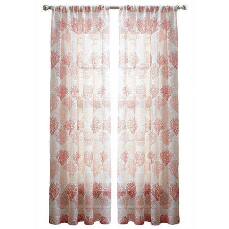 CHF Coral Reef Sheer Curtain Panel