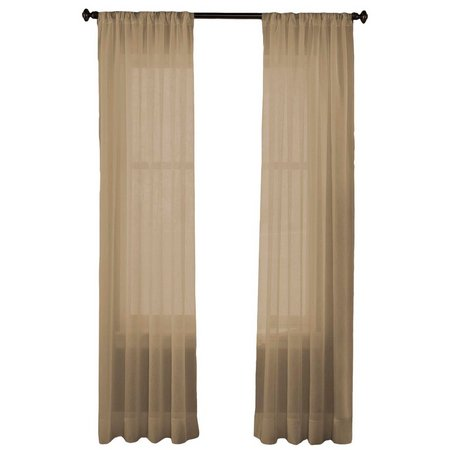 CHF Felicity Crinkle Voile Sheer Curtain Panel