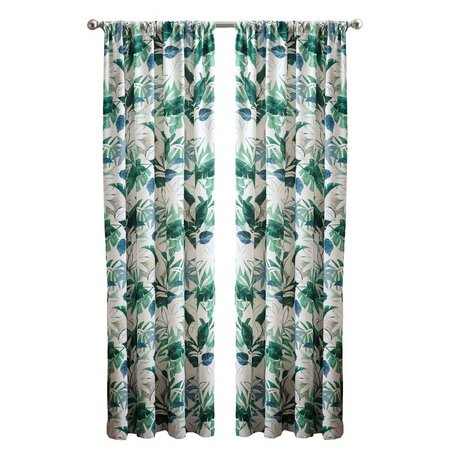 CHF Key West Floral Rod Pocket Curtain Panel