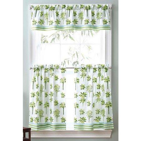 CHF Palm Trees 3-pc. Window Valance Set