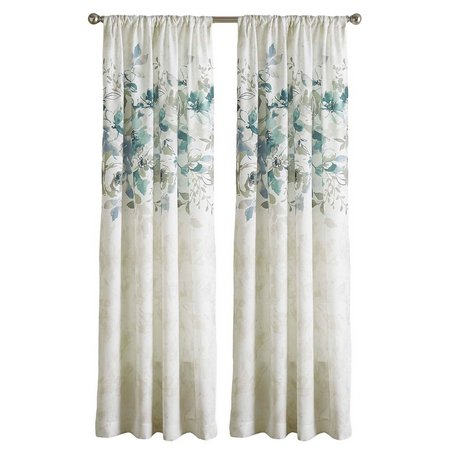CHF Watercolor Floral Rod Pocket Curtain Panel