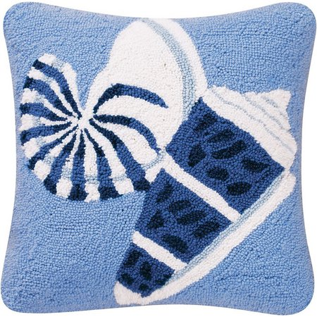 C & F Enterprises Blue Seashell Decorative Pillow