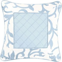 C & F Enterprises Serendipity Square Blue Pillow