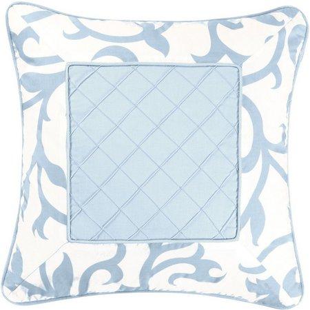 C & F Enterprises Serendipity Square Blue Pillow