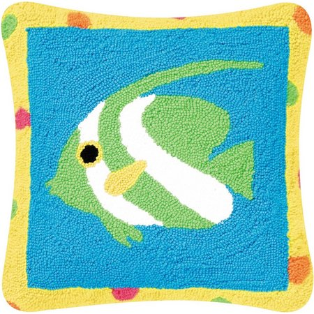 C & F Enterprises Green Fish Decorative Pillow