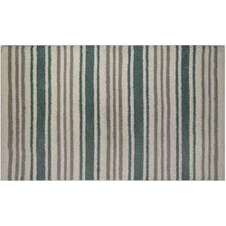 Devgiri Stripe White Aqual Accent Rug