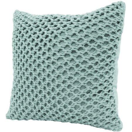 Dream Home Megan Cotton Crochet Decorative Pillow