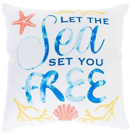 Homewear Sea Set You Free Decorative Pillow