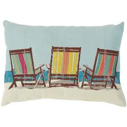 Brentwood Beach Chair Tapestry Decorative Pillow