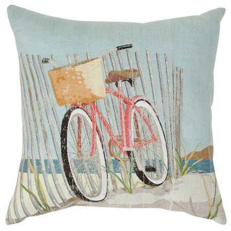 Brentwood Nantucket Bike Decorative Pillow