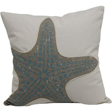 Brentwood Coral Starfish Decorative Pillow