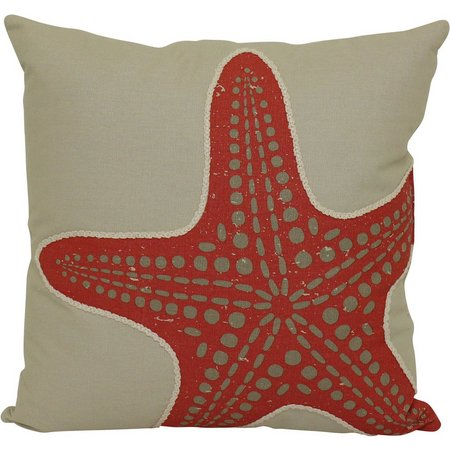 Brentwood Taupe Starfish Decorative Pillow
