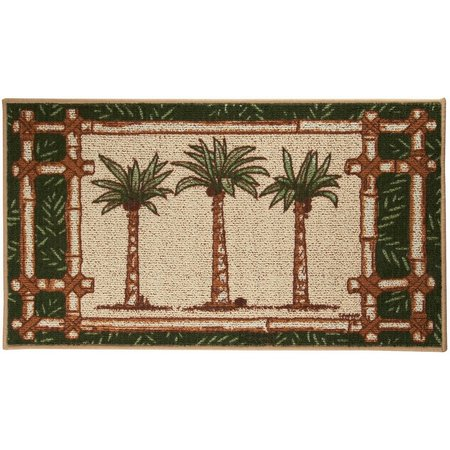 Bacova Oasis Palm Tree Trio Berber Rug