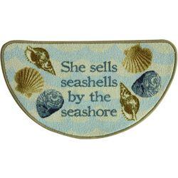 New! Bacova Sea Shells Slice Accent Rug