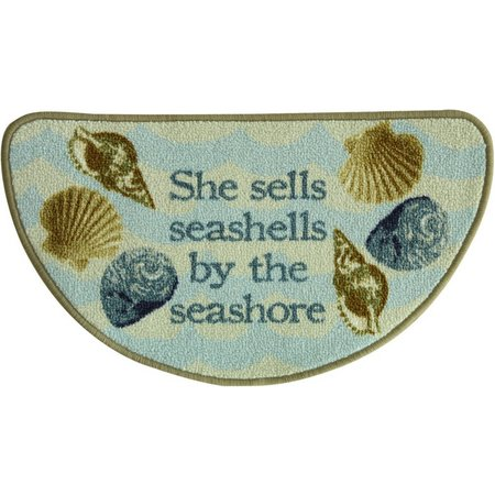 Bacova Sea Shells Slice Accent Rug