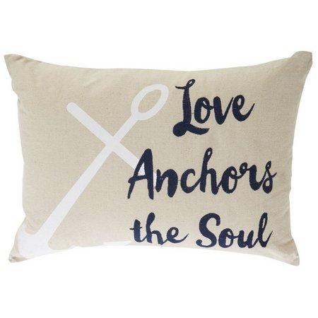 Enchante Love Anchors The Soul Decorative Pillow