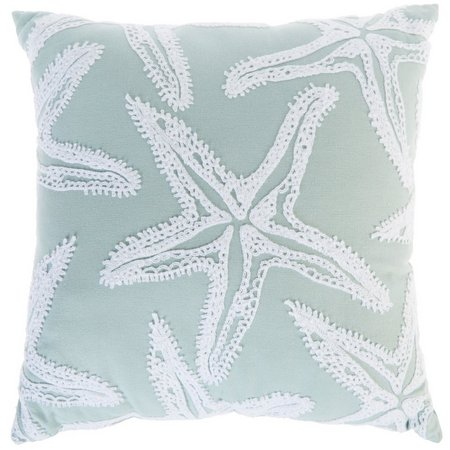 Enchante Embroidered Starfish Decorative Pillow