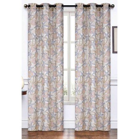 S.L. Home Fashions 2-pk. Starfish & Shells Curtain