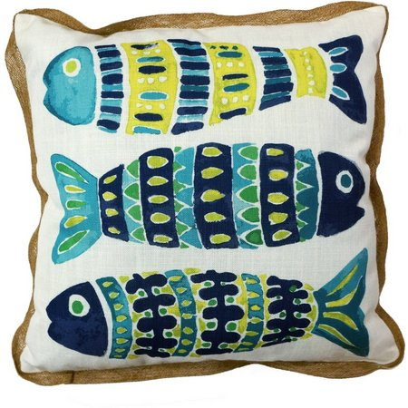 Arlee Mosaic Fish Decorative Pillow