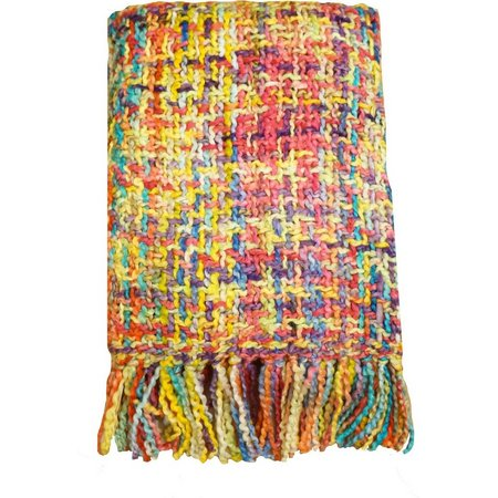 Arlee Carnival Multi-Color Knit Throw Blanket
