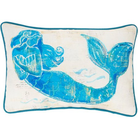 Arlee Painted Mermaid Decorative Pillow