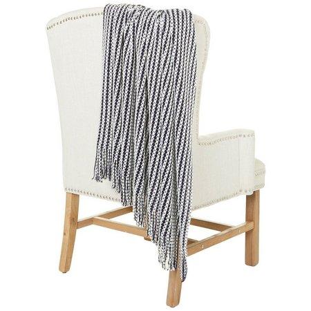 Coastal Home Blue Striped Knit Throw Blanket