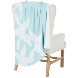 New! Coastal Home Starfish Knit Throw Blanket