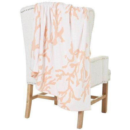 Coastal Home Coral Knit Throw Blanket