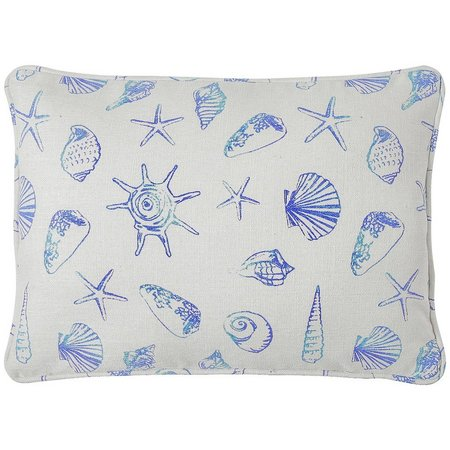 Jinda Home Fashions Seashell Painted Decor Pillow