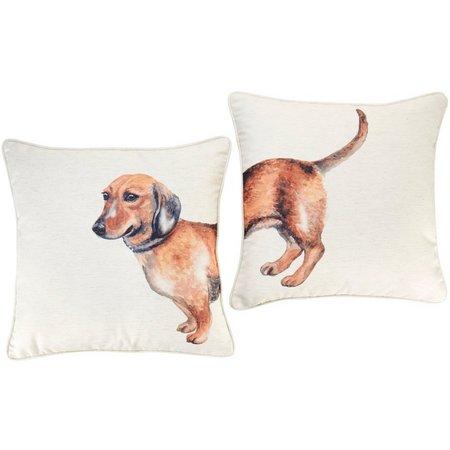 Home Fashion 2-pk. Watercolor Dachshund Decorative Pillow