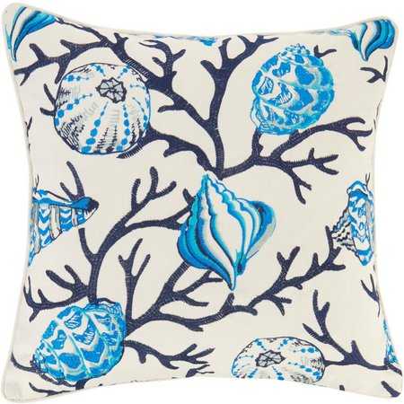 Home Fashion Delray Indigo Cream Decorative Pillow