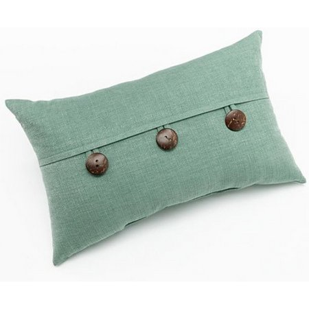 Home Fashion Dynasty 3 Button Decorative Pillow