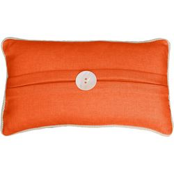 Thro Kate Button Rectangular Dark Coral Pillow