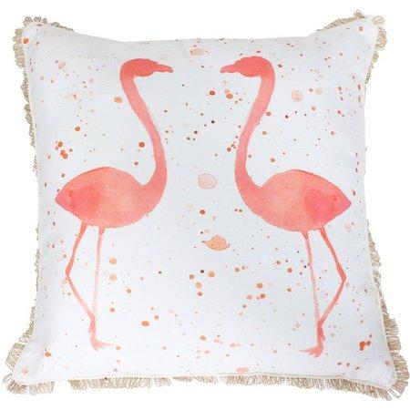 Thro Fatima Flamingo Watercolor Decorative Pillow